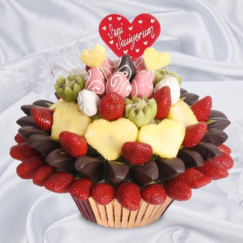 Çikolatalı Meyveler.